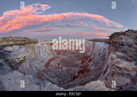 Coal Mine Canyon at sunset, near Tuba City, Arizona, part of the Moenkopi Wash. Sits between the Navajo and Hopi Reservation - Stock Image