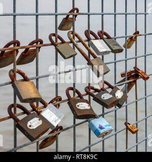 Love padlocks - Stock Image