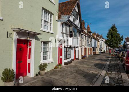 Medieval Houses, Abbey Street,Faversham,Kent,England - Stock Image