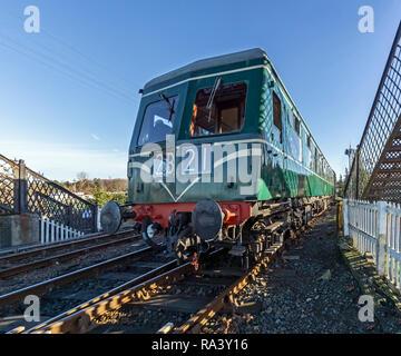 Swindon built DMU at winter diesel gala at Bo'ness & Kinneil Railway in Bo'ness Falkirk district   Scotland UK - Stock Image