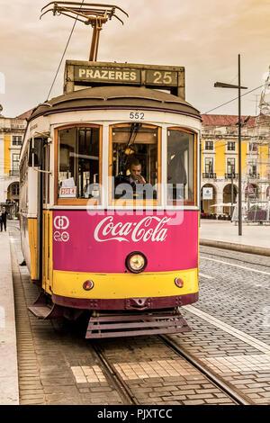 Public Transport Lisbon Portugal - Stock Image