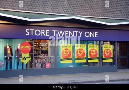 Store Twenty One, Wigston, Leicester, England, UK - Stock Image