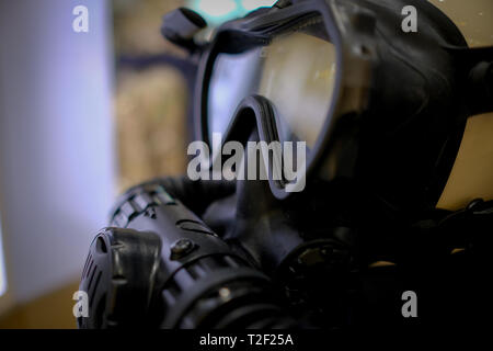 Close up of a Gas mask - Stock Image