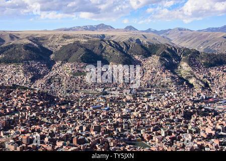 View of La Paz, Bolivia - Stock Image