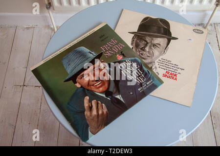 Two Frank Sinatra album covers - Stock Image