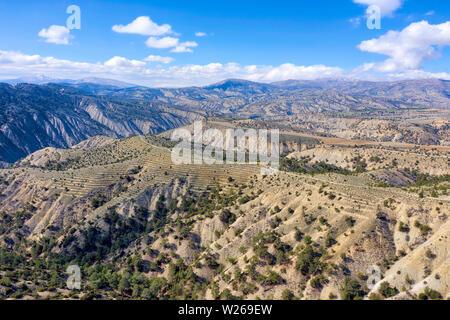 Taurus Mountains by Antalya, Turkey, taken in April 2019rn' taken in hdr - Stock Image