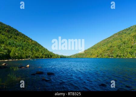 Bubble Pond, Acadia National Park, Maine, USA - Stock Image