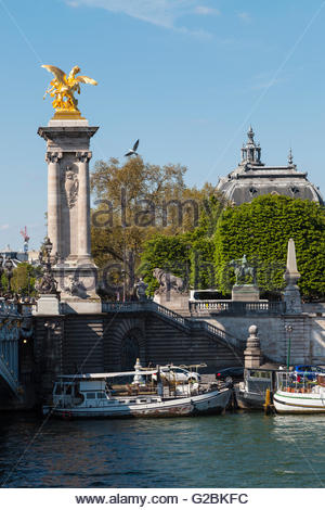 Alexandre bridge, Paris, 2016 - Stock Image