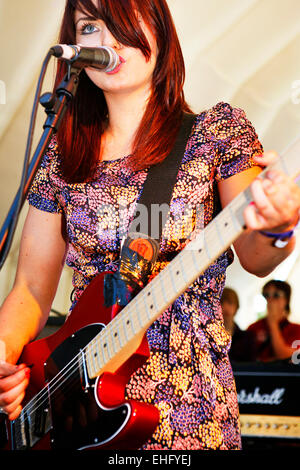 Blood Red Shoes live at Underage Festival in Victoria Park London. - Stock Image