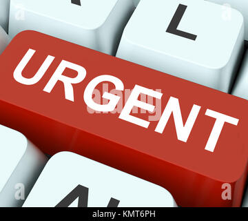 Urgent Key On Keyboard Meaning Important Or Immediate - Stock Image