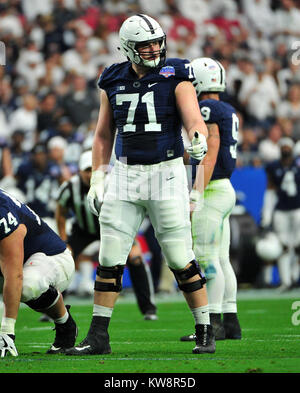 Glendale, AZ, USA. 30th Dec, 2017. Will Fries #71 of Penn State during the Playstation Fiesta Bowl college NCAA - Stock Image