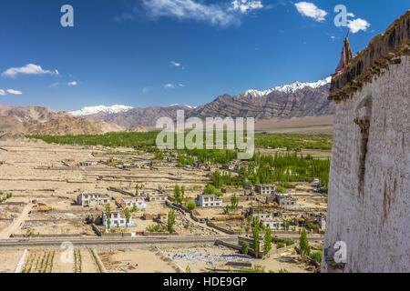 View of Leh Ladakh in Kashmir - Stock Image