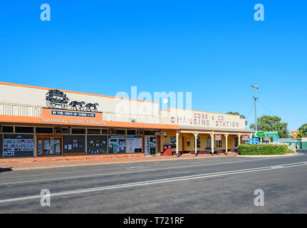 Cobb & Co. Museum in Surat main street, South West Queensland, QLD, Australia - Stock Image