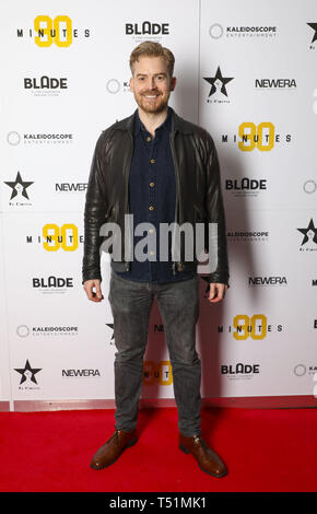 '90 Minutes' Launch Event hosted by executive producer Rio Ferdinand and director Simon Baker to celebrate the digital download and DVD release on 1 April  Featuring: Ruaraidh Murray Where: London, United Kingdom When: 19 Mar 2019 Credit: PinPep/WENN.com - Stock Image