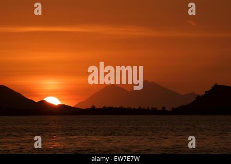 Indonesian Sunset - Stock Image