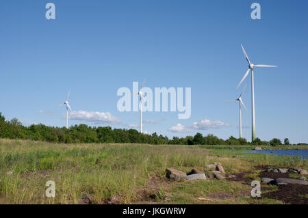 Virtsu Wind farm. Estonia 14th July 2017 - Stock Image