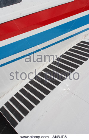 Grobnik Croatia Air show 2005 trainer wing walkway Zlin 526 F - Stock Image