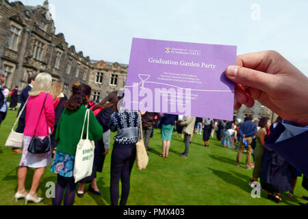 University of St. Andrews invitation to the graduate garden party - Stock Image