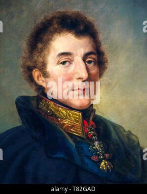 1st Duke of Wellington, portrait painting (detail) by Peter Edward Stroehling, 1820 - Stock Image