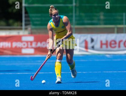 Krefeld, Germany, June 16 2019, hockey, women, FIH Pro League, Germany vs. Australia:  Edwina Bone (Australia) runs with the ball. - Stock Image