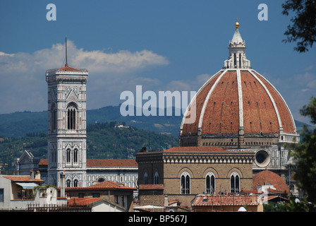 The Basilica di Santa Maria del Fiore, the cathedral church (Duomo) of Florence, Italy - Stock Image