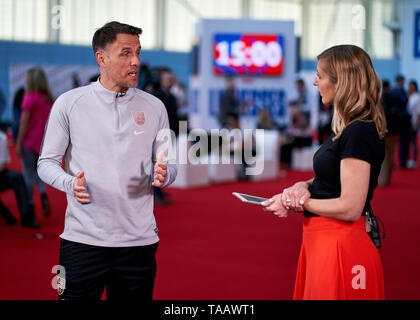 England women's manger Phil Neville during the media day at St George's Park, Burton. - Stock Image