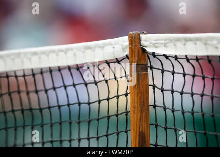 Edgbaston Priory Club, Birmingham, UK. 21st June, 2019. WTA Nature Valley Classic tennis tournament; The support post of the net on centre court Credit: Action Plus Sports/Alamy Live News - Stock Image