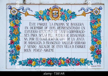 Parque la Paloma. Benalmádena, Málaga, Spain. - Stock Image