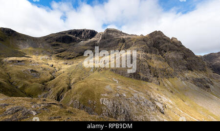 Bla Bheinn, Fionna Coire and Coire na Uaigneich in the Black Cuillin Mountains on the Isle of Skye, Scotland, UK - Stock Image