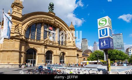 Frankfurt, Main Railway Station. 13. July 2017. - Stock Image