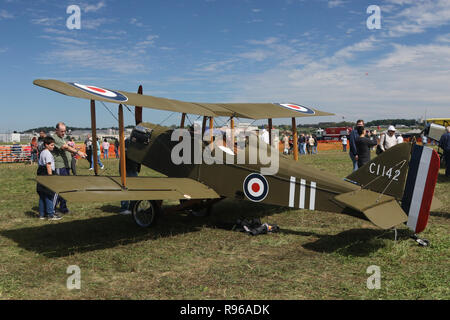 Royal Aircraft Factory SE5a airplane replica. C1142. World War 1 Dawn Patrol Anniversary Rendezvous event. The National Museum of the United States Ai - Stock Image