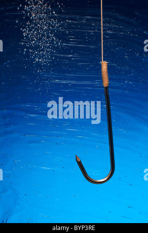 Hook in Water - Stock Image