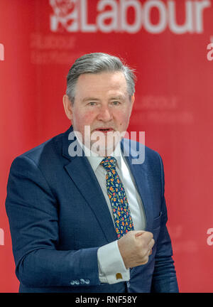 Labour's Shadow Secretary of State for International Trade, Barry Gardiner M.P. at a People Power event in Nottingham, England, UK. - Stock Image