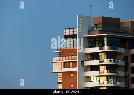 apartments in morning light - Stock Image