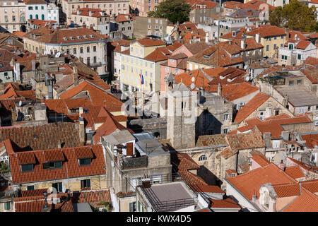 Aerial view of Narodni Trg, National Square, Split, Croatia - Stock Image
