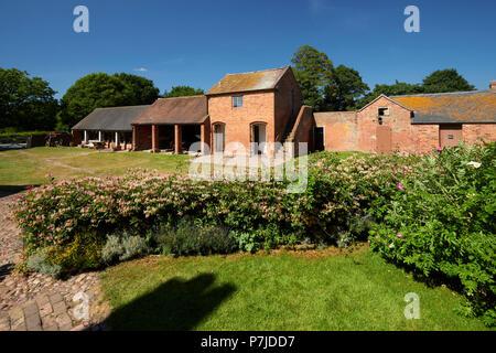 Farm Buildings Boscobel House Boscobel Shropshire West Midlands England UK - Stock Image