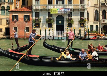Venice gondolas - Stock Image