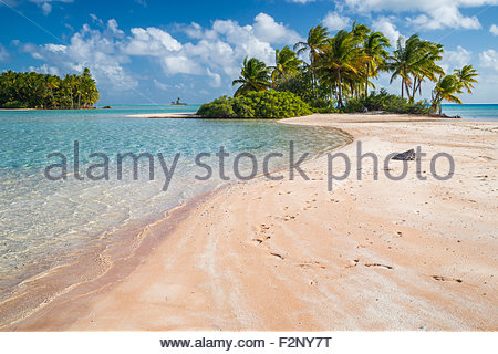 French Polynesia : Fakarava pink sands - Stock Image