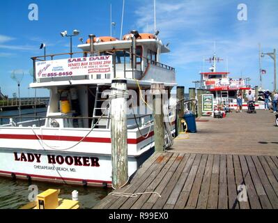 Fishing boat 'The Lady Hooker' - Stock Image