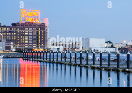 The Domino Sugars Factory in Baltimore, Maryland - Stock Image