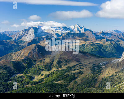 Mount Marmolada, the queen of the dolomites. The Dolomites are listed as UNESCO World Heritage Site. Central Europe, Italy - Stock Image