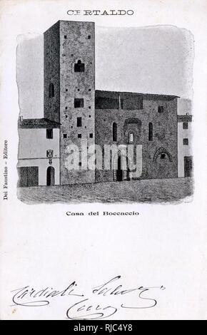 Certaldo, Tuscany, Italy - Casa del Boccaccio. - Stock Image