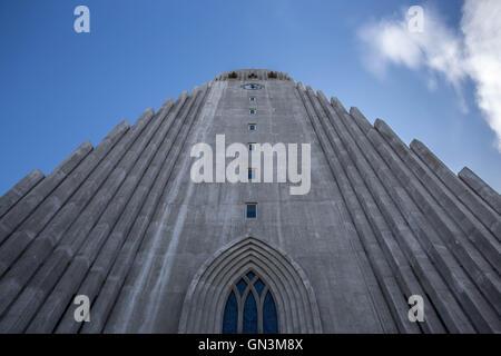 Hallgrimskirkja Church, Reykjavik, Iceland - Stock Image