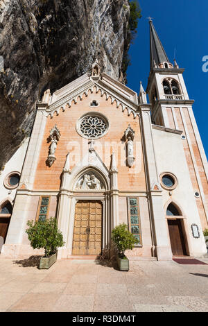 Sanctuary of Madonna della Corona, near Lake Garda, nothern Italy - Stock Image