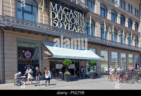 150 years ago (2018) Magasin du Nord opened the first department store at Kongens Nytorv, Copenhagen, Denmark. - Stock Image