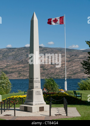 A memorial to Canadians from World War two in Canada - Stock Image