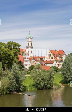 St. Mang Im Stadtteil Stadtamhof - Stock Image