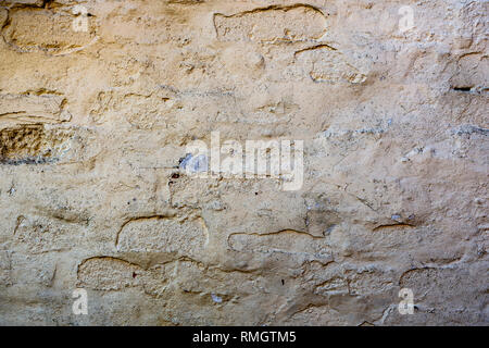 Old painted brick work - Stock Image