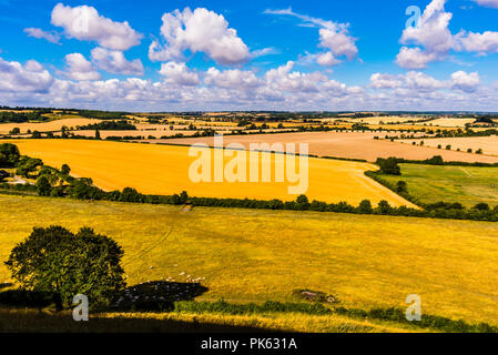 Early morning view from Sharpenhoe outcrop, Bedfordshire, UK - Stock Image