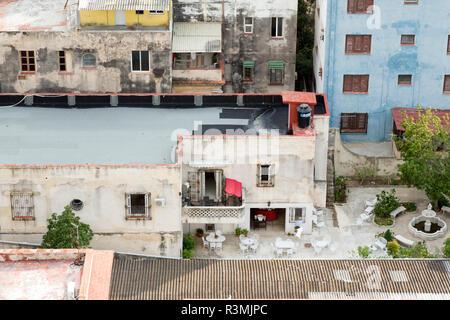 Cuba, Havana. Urban courtyard from above. Credit as: Wendy Kaveney / Jaynes Gallery / DanitaDelimont.com - Stock Image